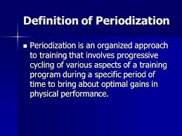Phases of training – Periodisation of the season