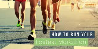 Racing a 42km marathon run